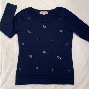 Loft: 3/4 sleeve sweater